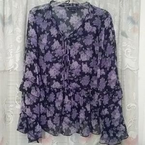 AE Outfitters sheer blouse